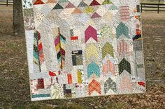 Native quilt by QuiltsByEmily, via Flickr For Alex?  Love the arrows and feathers