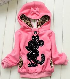 1 Set Retail baby girl Minnie hoodies,Girls jackets,children's winter coat,Children's clothing, children warm coat in winter $16.99