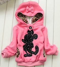 1 Set Retail baby girl Minnie hoodies,Girls jackets,children's winter coat,Children's clothing, children warm coat in winter $16.99