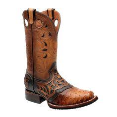 Cuadra Men's Ostrich Pro Rodeo Square Toe Boots