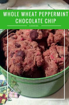 Check out this healthy Christmas cookie recipe - Whole Wheat Peppermint Chocolate Chip Cookies