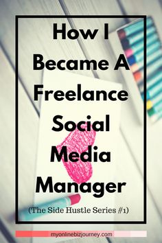 How to become a freelance social media manager. I was in grad school and I needed to pay the bills. So I chose a skill, delved into it and started charging for it.