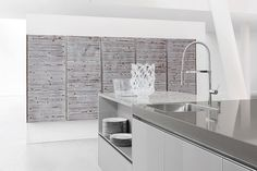 Rustic kitchen woods: The Dark Pine wood kitchen veneer has a beautifully rich and textured surface, ideal for a modern shabby chic kitchen look! Modern Shabby Chic, Shabby Chic Kitchen, Rustic Kitchen, Studio Kitchen, Kitchen Design, Bespoke Kitchens, Fitted Kitchens, German Kitchen, Shaker Kitchen