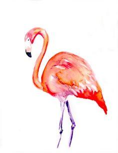 Flamingo, by me! #watercolor #flamingo