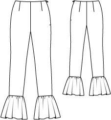 Tany et La Mode: Miu Miu Bell bottom pants vs. August BurdaStyle pattern