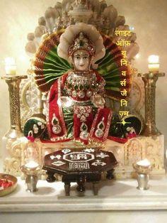 Temple Room, Home Temple, Goddess Lakshmi, Krishna Art, Indian Art, Frames On Wall, Snow Globes, Hindi Quotes, Desserts