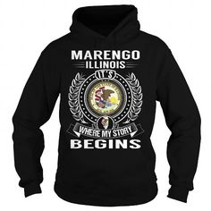 I Love Marengo, Illinois Its Where My Story Begins T shirts