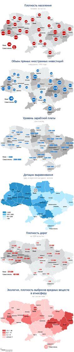 Инфографика: Из чего состоит Украина или  чем отличается  Запад, Центр и Восток