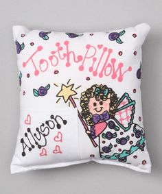 Take a look at this Bunnies and Bows Angel Personalized Tooth Pillow by Bunnies and Bows on #zulily today!