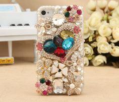 flower iphone case,big heart iphone case ,Luxury iphone