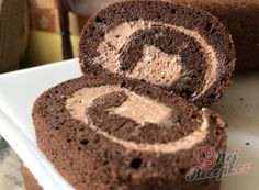 Airy cocoa biscuit roll with delicious cream Brownie Recipes, Cake Recipes, Dessert Recipes, 21 Day Fix Snacks, 21 Day Fix Breakfast, Shrimp Recipes For Dinner, Homemade Brownies, Croatian Recipes, Cheesecake Bites