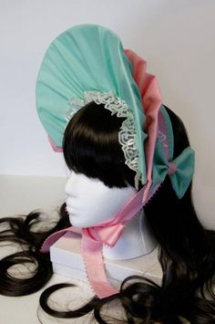 I found 'Sweet Baby Blue-Mint and Pink Elegant Gothic and Lolita Bonnet' on Wish, check it out!