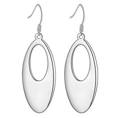 925 Sterling Silver Earrings Simple Earings for women Girl fashion jewelry Pendientes Plata brincos WE-312
