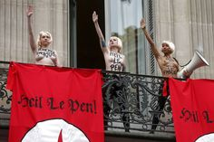 PARIS — Parisian pundits have kept occupied this week as Marine Le Pen suspended her father, Jean-Marie Le Pen, from his position as honorary president of the far-right Le Front national (National. National Front, Ted Speakers, Angry Girl, Le Pen, Today In Pictures, Top Les, May 1, Photos Of Women, Feminism