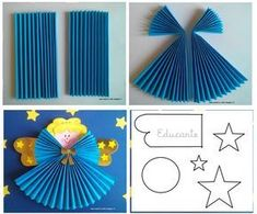 How to make a paper angel for the christmas ornament more articles – ArtofitDiscover thousands of images about engel basteln kinder - Paper angel - I'll have to try this sometime.wzory prac na plastykę na Stylowi. Christmas Activities, Christmas Crafts For Kids, Christmas Angels, Christmas Projects, Kids Christmas, Christmas Tree Ornaments, Holiday Crafts, Christmas Decorations, Vintage Christmas