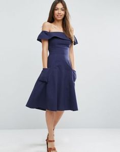Buy Navy Asos Casual dress for woman at best price. Compare Dresses prices from online stores like Asos - Wossel United States Asos Dress, Navy Dress, Online Shop Kleidung, Asos Mode, Mode Online Shop, Casual Day Dresses, Tall Dresses, Shops, Latest Fashion Clothes