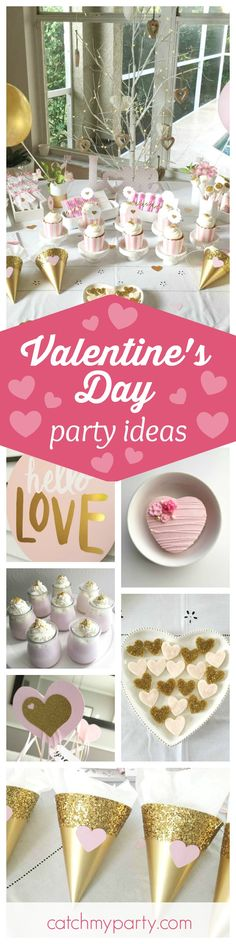 Check out this fabulous Valentine's Day party! Love the pink heart cookies!! See more party ideas and share yours at CatchMyParty.com