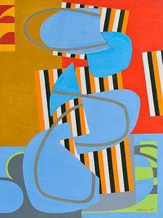 Sam Vanni: Sommitelma, 1981, öljy kankaalle 102x75 cm, Bukowskis F164