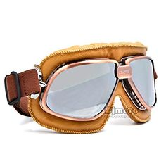 f0df777235 Aviator Pilot Cruiser Motorcycle Scooter Glasses Helmet Eyewear Motor bike  Goggles for outdoor sports Motorcycle Goggles