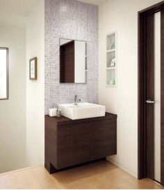 Pin by jay on 洗面台 Bathroom Tile Designs, Bathroom Design Small, Bathroom Interior Design, Bathroom Basin Cabinet, Wash Basin Cabinet, Indian Bathroom, Washbasin Design, Indian Home Design, Wash Hand Basin