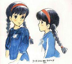 Film: Laputa: Castle In The Sky ===== Character Design: Sheeta ===== Production Company: Studio Ghibli ===== Director: Hayao Miyazaki ===== Producer: Isao Takahata ===== Written by: Hayao Miyazaki ===== Distributed by: Toei Company Studio Ghibli Art, Studio Ghibli Movies, Hayao Miyazaki, Totoro, Storyboard, Castle In The Sky, Fan Art, Concept Art, Character Design