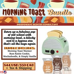 Morning Toast Bundle - $44, comes with Morning Toast Warmer, and your choice of…