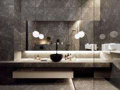Bathroom inspiration grey small spaces ideas for 2019 Bathroom Layout, Modern Bathroom Design, Bathroom Interior Design, Small Bathroom, Bathroom Art, Bathroom Ideas, Kitchen Design, Bathroom Designs, Bathroom Vanities