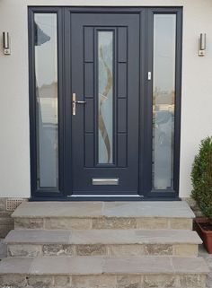 Rockdoor manufacture the most secure Front doors Back Doors and Barn Doors in the UK - Design your dream door today at Unique Front Doors, Grey Front Doors, Contemporary Front Doors, Front Doors With Windows, Modern Front Door, Exterior Front Doors, House Front Door, Back Doors, Grey Exterior