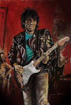 #Ronnie_Wood Art Exhibition