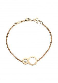 Chopard Bracelet Bracelet Happy 8 Or rose 18 carats et diamant