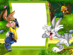 Kids Transparent Photo Frame with Bunnies​ | Gallery Yopriceville - High-Quality Images and Transparent PNG Free Clipart