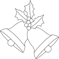 Any Old Craft: Christmas bells and holly digi stamp freebie - - Any Old Craft: Christmas bells and holly digi stamp freebie NATAL Any Old Craft: Weihnachtsglocken und Holly Digi Stempel Werbegeschenk Christmas Applique, Christmas Embroidery, Felt Christmas, Christmas Colors, Christmas Ornaments, Christmas Angels, Merry Christmas, Christmas Bells Drawing, Christmas Decorations Drawings