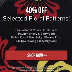 Selected floral patterns are 40% off until Tuesday at midnight PST. Discount applied automatically in cart. Cannot be combined with other offers or applied to past orders. Happy shopping! http://noritakechina.com/40-off-patterns-jan-2015.html #noritake #sale #home #dining #dinnerware #tablescape