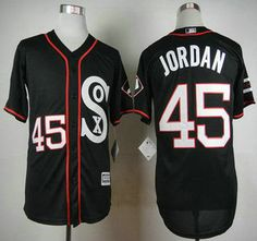 best authentic 93f1a 45d98 ebay chicago white sox 45 jordan black throwback jersey ...