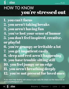 How to Know When You're Stressed Out | Amplified Good Stress Relief and Counseling in Portland OR #stress #anxiety #worry