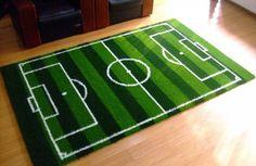Fussball Deko Hause fußballfans teppich design