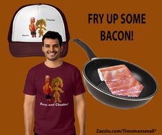 Sizzling Hot Bacon Fashion Clothing tshirts neckties clothing humor funny funnyshirts menswear womenswear