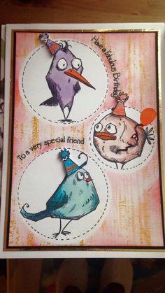 Tim Holtz Crazy Birds stamp set,