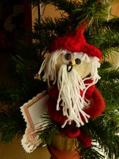 Christmas Santa Claus tree ornamentTree decoration by JadAngel
