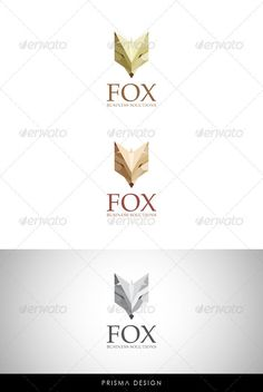 Fox Logo  #symbol #symbols #synthesis • Available here → http://graphicriver.net/item/fox-logo/2874422?s_rank=168&ref=pxcr