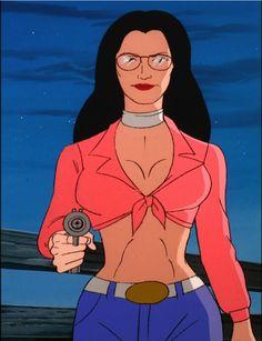 Baroness (out of disguise) from the GI Joe cartoon Gi Joe Cartoon, Cartoon Clip, Cartoon Toys, Comic Book Characters, Comic Books Art, Baroness Gi Joe, Cobra Art, Comic Book Girl, Female Superhero
