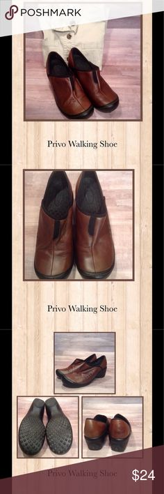 "Provo Walking Shoe Beautiful used condition leather sport look shoe with a 2.5"" heel. Look really great with jeans and slacks. This is part of the Clarks company. Very comfy! Privo Shoes Flats & Loafers"