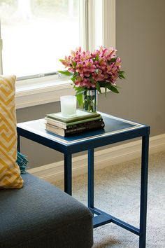 side table makeover DIY