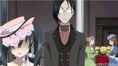 """""""OH CRAP! FANGIRLS!"""" OMG their faces XD sometimes I just put my head down and go """"Oh, Ciel."""""""