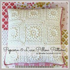 Popcorn & Lace Pillow Pattern