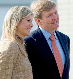 King Willem-Alexander and Queen Maxima opens King's Games 2015 in Leiden 24 april