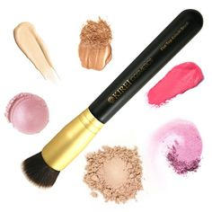 Amazon.com : Best Foundation Brush - Flat Top Kabuki Brush for Blending Cream, Liquid, Mineral Powder. Cruelty-free, Synthetic, Vegan Brush : Beauty