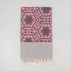 Beautiful Go Undercover Blanket in Heavenly Honeycomb/Rose by House Of Rym. The Go Undercover Blanket is a perfect patterned throw for the beach or a picnic