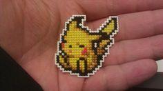 Cross stitched Pikachu pin, Pokémon Mystery Dungeon 2.