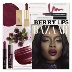 """Berry Lips"" by es-vee ❤ liked on Polyvore"